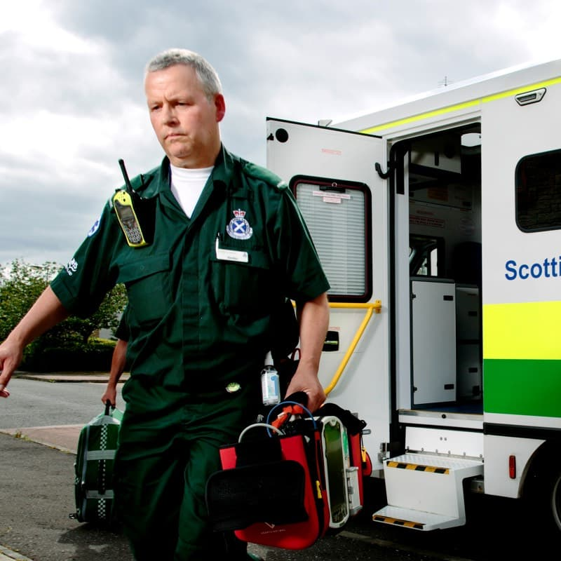 NHS ambulance staff