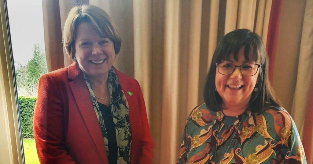 Diane Scott and Sue Noyes