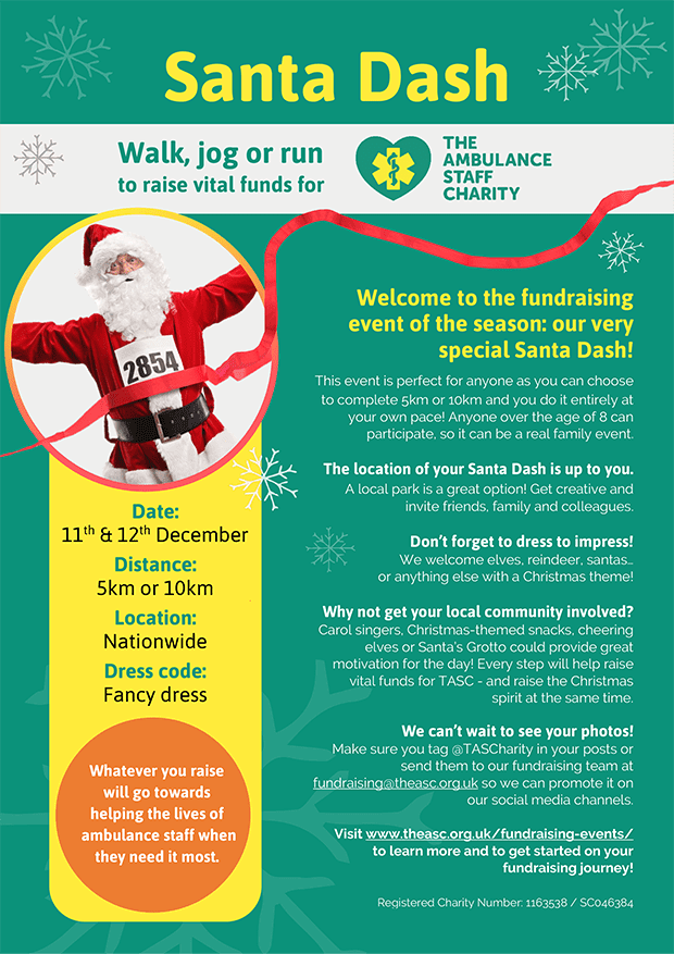 Take part in the Santa Dash this Christmas to raise funds for TASC